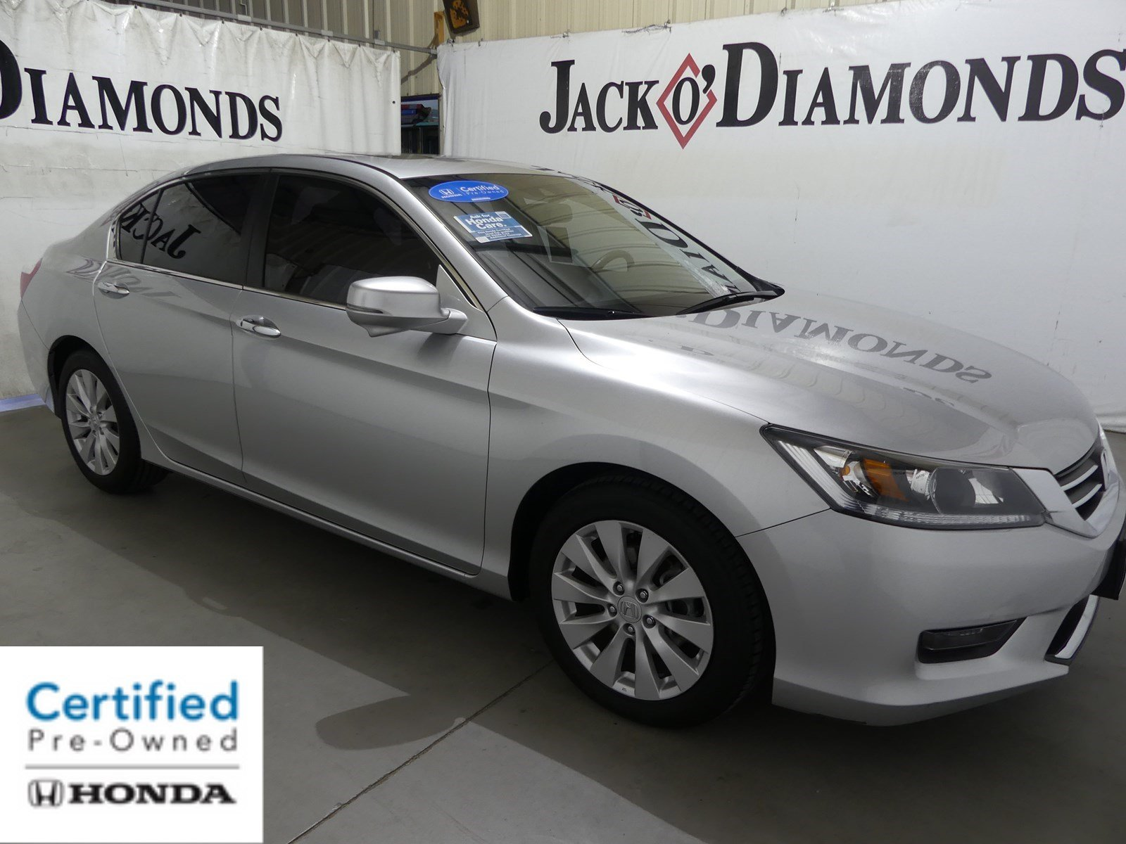 Certified pre owned 2014 honda accord sedan ex l 4dr car for Honda used certified